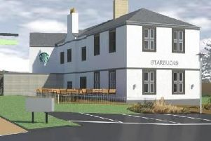 How Carbrook Hall should look once it has been converted into a drive-through Starbucks cafe (pic: DLP Planning/West Street Leisure)