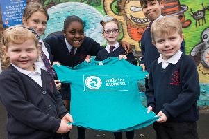 Pupils at St  Augustine's RC Primary School in Burnley walked 2,000 steps every day for a week to help raise awareness of autism.