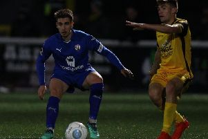 Muggleton in action for Chesterfield