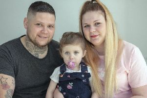 Little Ivy-Louise with parents, Jamie and Kerri-Lee.