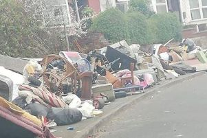 This mountain of waste has appeared in Fir Vale, Sheffield, over the weekend
