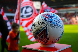 SHEFFIELD, ENGLAND - MARCH 30: Mitre match ball during the Sky Bet Championship match between Sheffield United and Bristol City at Bramall Lane on March 30, 2019 in Sheffield, England. (Photo by Ashley Allen/Getty Images)