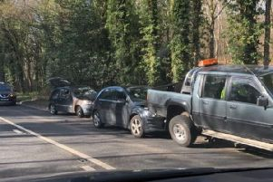 Five vehicles were involved in a collision in Sheffield this morning
