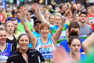 Sheffield Half Marathon 2018 - runners set off from the start line.