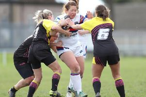 Wakefield Ladies captain Dani Swaine in action last season.