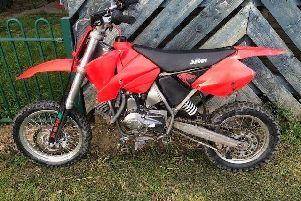 The recovered motorbike.