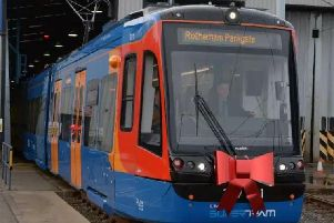 Tram trains were launched in South Yorkshire last year