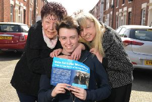 Pauline, Luke and Jayne out canvassing