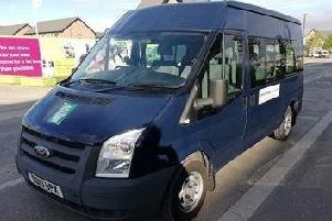 The STEY minibus which has removable signs to avoid any embarrassment.