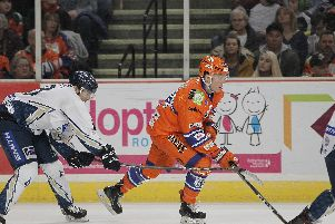 Sheffield Steelers Eric Neiley v his old club MKL