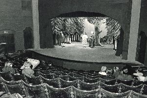 A rehearsal for the opening night of the Merlin Theatre, Tintagel House, Nether Edge, Sheffield, March 3, 1969