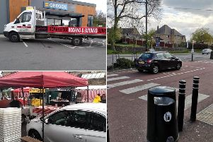 Photos of the worst parking in Sheffield this month.