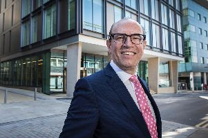 David Topham, chief executive of CTP, outside 3 St Paul's Place