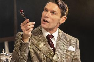 John Partridge in stage comedy Rough Crossing