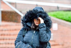 Alice Cutter, 22, leaving Birmingham Crown Court - Credit: SWNS