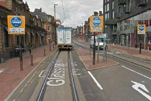 Glossop Road bus and tram gate
