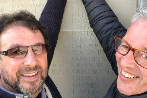 Gary and Stephen Smithson at the memorial