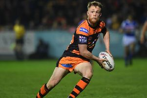 Debut to remember: 'Castleford's Cory Aston. Picture: Jonathan Gawthorpe