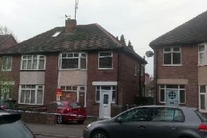 A councillor's home was shot at in Edgedale Road, Nether Edge, this morning (Pic: Sam Cooper)