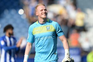 Cameron Dawson was all smiles after Sheffield Wednesday's win over Bristol City