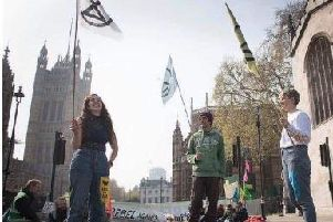 Environmental protesters in London