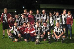 Sowerby Bridge after their 1-0 Challenge Cup final win over Hebden Royd Red Star