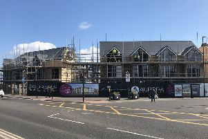 The new homes at Empress Point, on the site of the former Avenue pub, on Whitley Bay seafront.