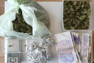 Cash and drugs were found at an address in Marshall Avenue.
