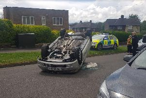 A man was taken to hospital after a collision on a Sheffield estate