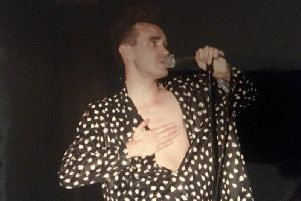 The Smiths singer Morrissey on stage. Photo courtesy of John Baxter