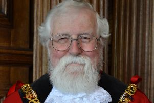 Roger Mace during his time as mayor in 2017/18..