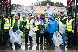 Intrepid volunteers turned out in pouring rain for the autumn clean-up of St Annes town centre