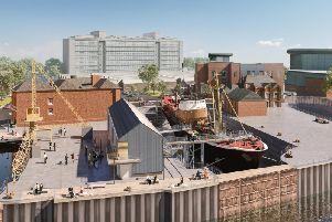 North End Shipyard - how it will look when the work is done, including a new visitor's centre.