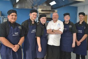 Culinary Academy 2019 apprentices (left to right) Bryan Rojas Pinedo, Rob Southern, Abbie Spencer, Steven Doherty, Antonia Beswick, Ellis McNally.