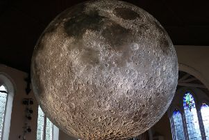 Luke Jerram's Moon installation, which can be seen at Lancaster Priory this November.