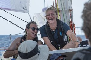 Mary Vaughan-Jones is due to arrive into Uruguay, completing the first stage of her epic Clipper Race circumnavigation. Credit: Clipper Race