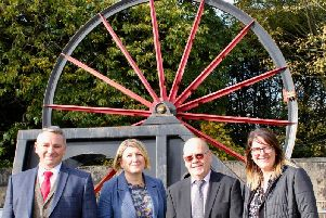 Councillor Andy Burgin, CISWO chief executive Nicola Didlock, Friends of Berry Hill Park chairman Ian Gill,  and district council chief executive Hayley Barsby.