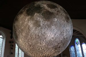 Luke Jerram's moon installation which can be seen at Lancaster Priory this November will be complemented by many lunar-themed activities.