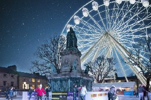 A CGI of the ice rink and big wheel in Dalton Square. By Nick Dagger Photography.