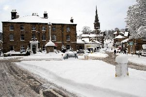 2010: Bakewells Rutland Square is empty as snow stops the traffic and causes businesses to remain shut.