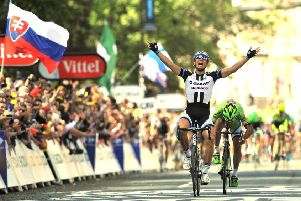 Flashback: Marcel Kittel wins stage one of the 2014 Tour de France from Leeds to Harrogate. (Picture: Bruce Rollinson)