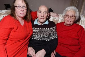 Ernest and Phyllis Erlam, both 88, and daughter Janet