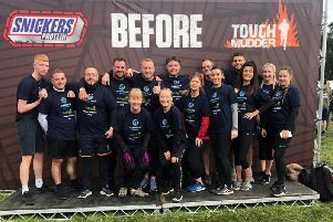 Staff from Go Electrical conquered Tough Mudder for St Catherines Hospice.