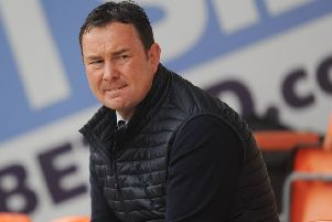 Morecambe manager Derek Adams