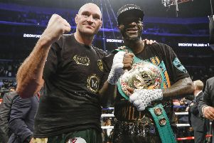 Tyson Fury and Deontay Wilder will fight again in February. Picture: Esther Lin/Showtime.