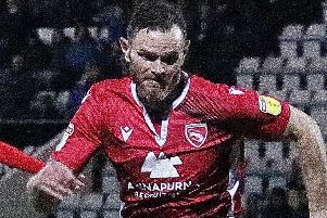 Ritchie Sutton went close for Morecambe