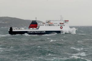 Steam Packet ferry, the Ben-my-Chree, joined the search