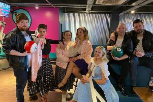 The cast of MAODS in their production of Grease.