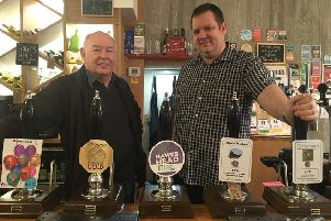 Peter and Iain Quinn at Taps on the Green.