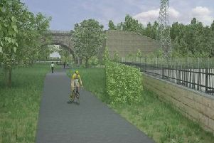 An artist's impression of how the finished scheme will look.